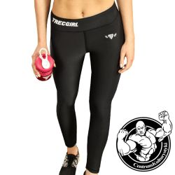 TW LEGGINS TRECGIRL 017 STRONG BLACK - Trec Wear